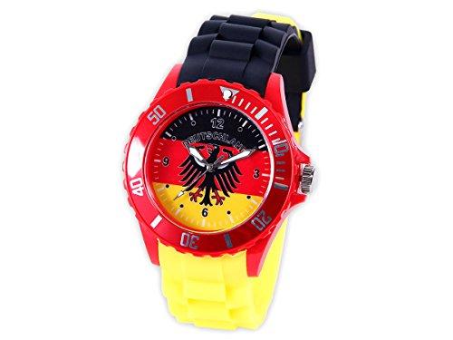 Alsino Silikonuhr Deutschland EM WM Uhr Fanartikel Armbanduhr Uhr UR-DE01