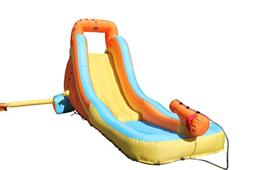 Sportspower My First Inflatable Water Slide - Heavy-Duty Outdoor Slide with Water Cannon and Splash Pool - Air Blower Included