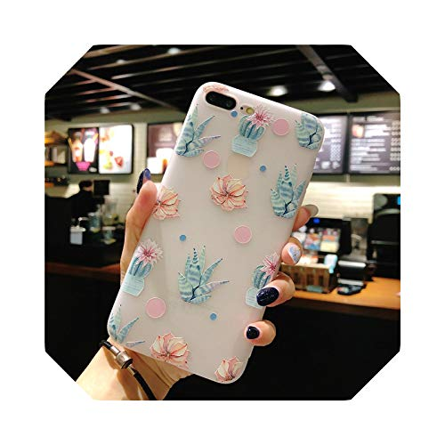 Carcasa para iPhone 11 Pro 6 6S 7 8 Plus X XR XS Max 3D Relief Flower Flamingo Leaf Watermelon Soft TPU for iPhone XR-T12-for iphone 11Pro Max