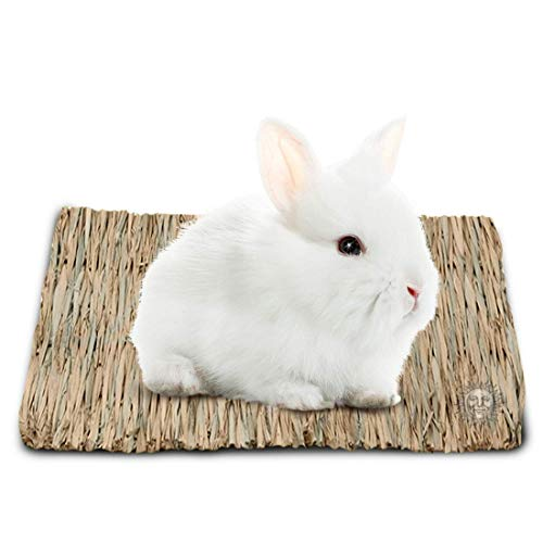 SunGrow Seagrass Rabbit Mat, Protect Paws from Wire Cage, Treat Bunny's Sore Hocks, Handmade Woven...
