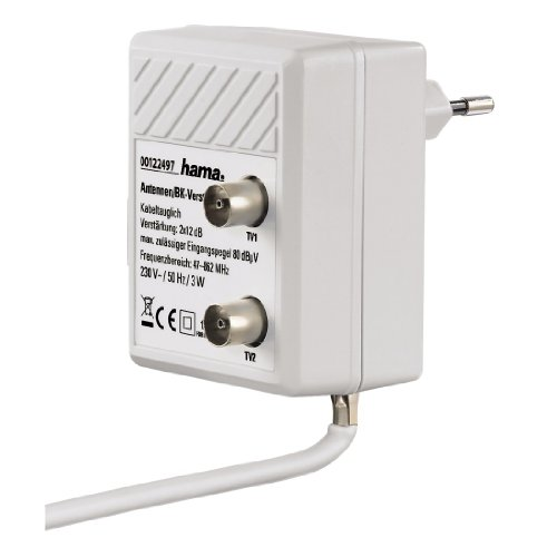Hama Antennen-Zweigeräteverstärker (2-Port, 2x 12dB) weiß