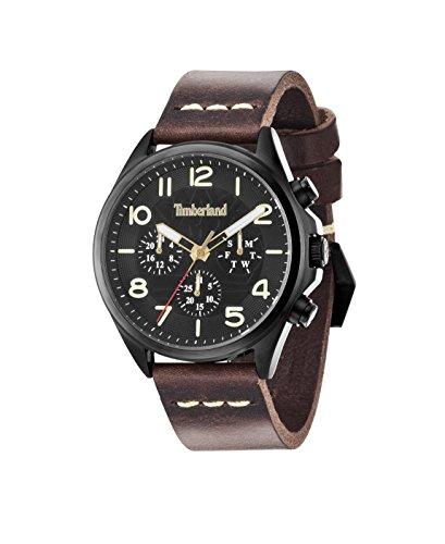Timberland Bartlett-Orologio da uomo al quarzo con Display con cronografo e cinturino in pelle, colore: marrone/02 14400JSB
