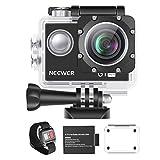 Neewer G1 Ultra HD 4K Caméra d'action 12MP, 30 mètres sous-Marine Etanche 170 Degrés Grand Angle WiFi Caméra de Sports Capteur et 2 Pouces Ecran avec Batterie et Accessoires de Montage (Noir)