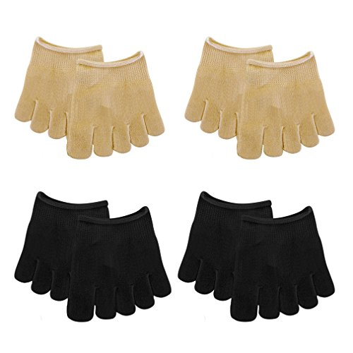 4 Paare Zehlinge Füßlinge Socken Zehensocken Sportsocken Yoga Socken unsichtbare Separatoren Socken,Onesize