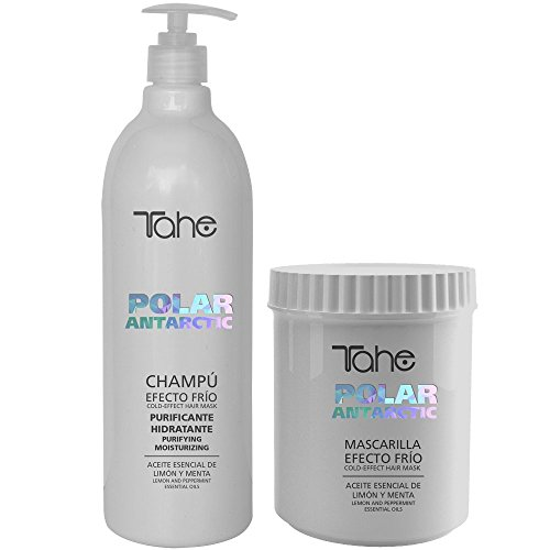 Tahe Exclusive Polar Antártico Champú Champu 1000 ml y Tahe Exclusivo Polar Antártico Conditioiner 700 ml Duo con aceite esencial de limón y extractos de menta