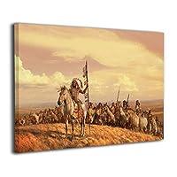 Skydoor J パネル ポスターフレーム ネイティブアメリカンの馬 インテリア アートフレーム 額 モダン 壁掛けポスタ アート 壁アート 壁掛け絵画 装飾画 かべ飾り 30×20