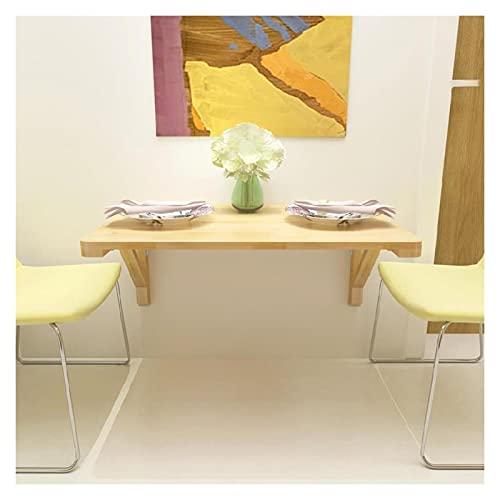 ZWYSL Escritorio de Pared Plegable, Mesa Plegable de Pared, Fácil de Instalar para Estudio, Comedor, Dormitorio Escritorio Flotante, 19 Tamaños (Color : A, Size : 100×60cm)