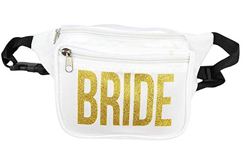 Bachelorette Party Bride Fanny Pack - Includes Bride Temporary Tattoo & Bride Button - Bride Squad Phanny Packs