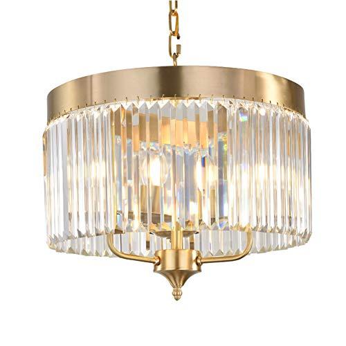 WHCCL kristallen kroonluchter plafondlamp plafondlamp, hanger van kristalglas, modern, E14, geschikt voor woonkamer, hotel, restaurant, slaapkamer, 3 koppen, 6 koppen
