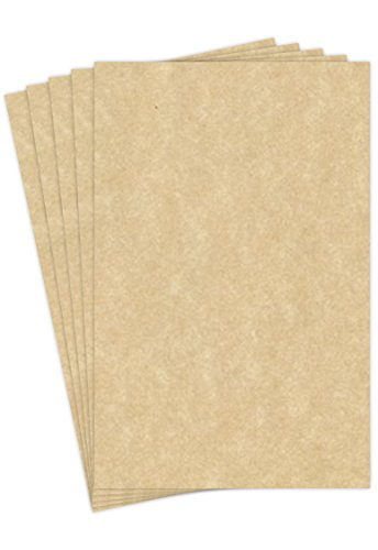 Aged Stationery Parchment Paper | 24 Lb Bond / 60 lb Text / 90 GSM Paper | 50 Sheets Per Pack | 11� x 17� Inches