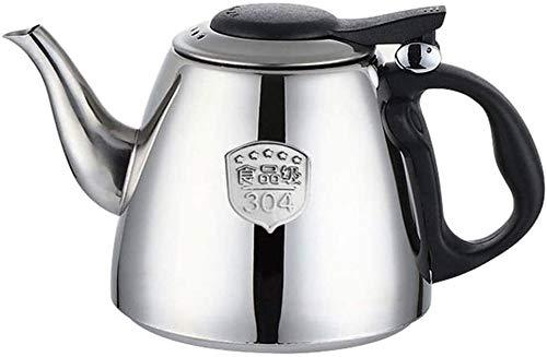 Bouilloire induction Théière 304 bouilloire à induction en acier inoxydable bouilloire épaissie bouilloire de bouilloire bouilloire bouilloire argent WHLONG (Size : 1.2l)