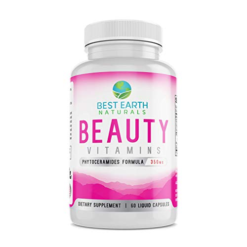 Beauty Vitamins Phytoceramide Pills - Moisturizing and Wrinkle Filling Anti-Aging Support Supplement with Alpha Lipoic Acid and More to Help Promote Hydrated, Young Looking Skin - 60 Count