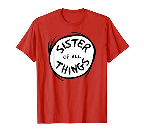Dr. Seuss Sister of all Things Emblem RED T-shirt