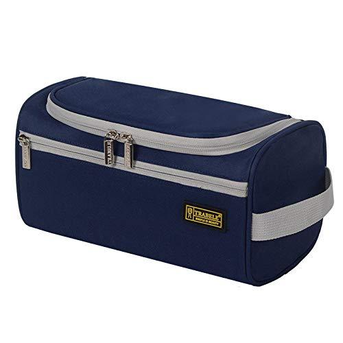 Travel Cosmetic Organizer Bag Wash Bag Men's Business Travel Portable Toiletries Set Shampoo Bath Bath Hanging Bags A-Darkblue