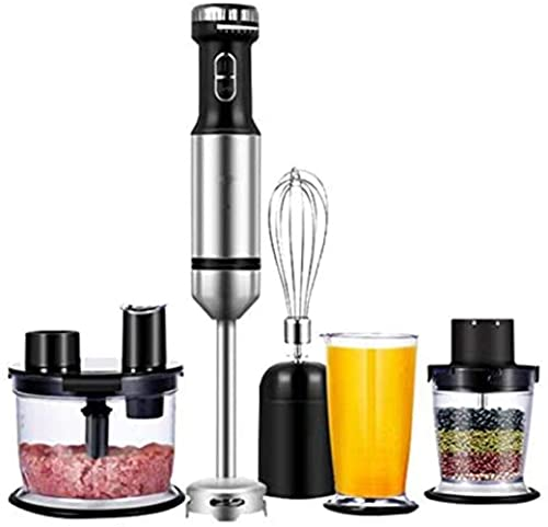 HYLK 4-in-1 Cooking Machine Stick Stainless Steel Multifunctional Household Juice Extractor, 7-speed Stepless Regulation, nutrition grinding cup, 700ml juice cup, quick and easy wash