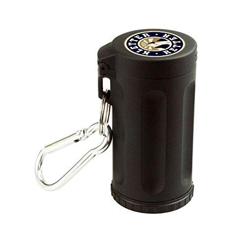 KletterRetter Verschließbarer Mini-Aschenbecher mit Karabinerhaken zum Mitnehmen und Aufbewahren von Asche/Kippen - wiederverwendbar und sehr leicht zu reinigen