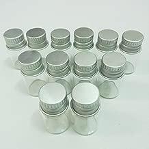 10pcs 16x26mm Tiny Mini Small Clear Bottles Glass Vials 2.0ml 1/2 Dram with Caps