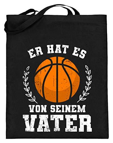 Chorchester Er Hat Es Von Seinem Vater Basketball - Jutebeutel (mit langen Henkeln) -38cm-42cm-Schwarz