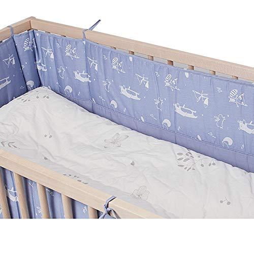 Clôture de lit tissée pour bébé berceau anti-collision couvre-lit pour bébé lit double face pare-chocs 250 * 30cm B