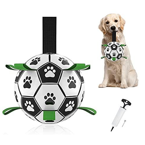 Hundebälle Hundespielzeug Hund Fußball Interaktiver Schwimmender mit Grab Nylon Tabs