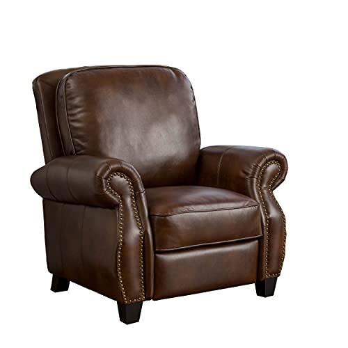Christopher Knight Home Neville PU Push Back Recliner, 2-Tone Brown