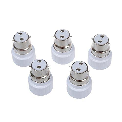 NEYOANN B22 a GU10 - Adaptador convertidor de bombilla de lámpara (5 unidades)