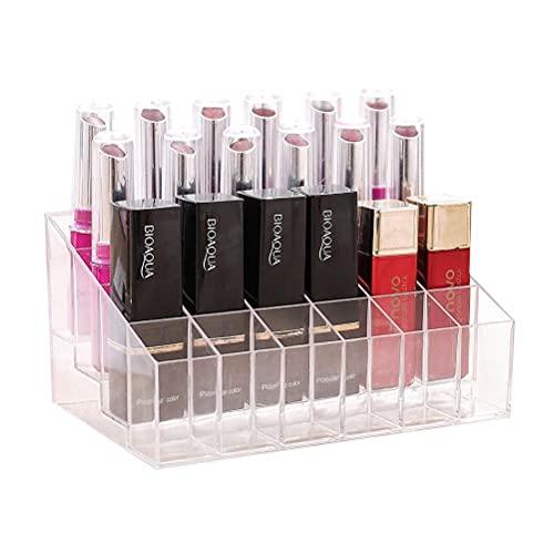 BASOYO 24 botellas de plástico para esmalte de uñas, organizador de maquillaje
