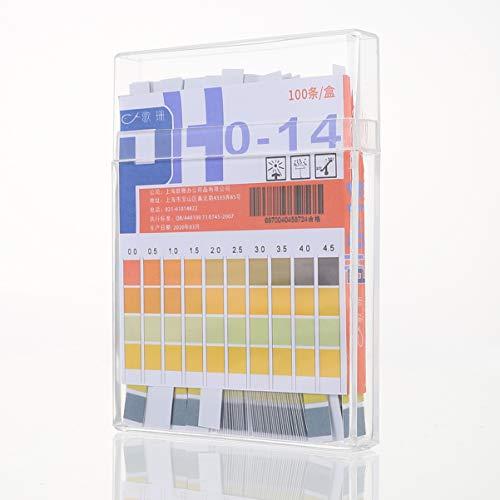 ibasenice Tiras de Ph- Aplicación Universal (Ph 0-14) Tiras de Prueba de Ph Papel de Prueba de Ph Herramienta de Prueba Química Papel de Ph para Líquidos de Jabón Agua Prueba de Suelo (100
