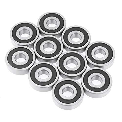 Ball Bearing, Rubber Sealed Bearing, 6200-2RS Bearing Sealed Ball Bearing for 3D Printer Roller Bearing Industrial Supplies 10mm Shaft/Rod Projects
