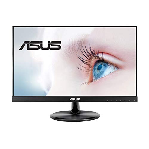 "ASUS VP229Q 21.5"" Monitor, 1080P Full HD, 75Hz, IPS, FreeSync/Adaptive-Sync, Eye Care, HDMI DisplayPort VGA, Frameless, VESA Wall Mountable"