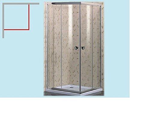 CABINA BOX DOCCIA AIRONE 2 ANTE 80X80 CRISTALLO TRASPARENTE MM.5