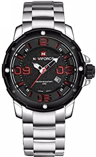 Naviforce 9078 S-B-R Analog For Men, Dress Watch