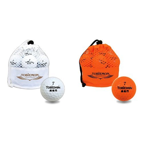 【おすすめセット】 公認球 2ピース構造ゴルフボール ホワイト 12球(1ダース) メッシュバック入り 1個 + TOBIEMON 飛衛門 公認球 2ピース構造ゴルフボール オレンジ 12球(1ダース) メッシュバック入り 1個