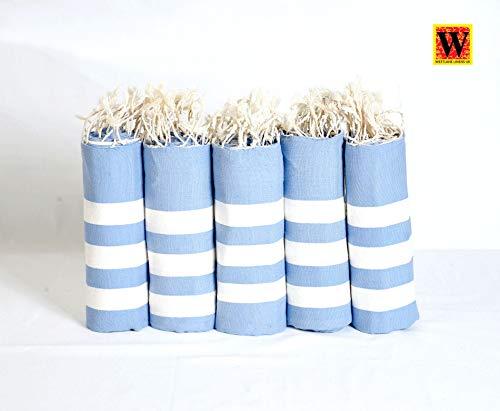 Westlane Linens - Toalla de baño (90 x 180 cm), diseño de hammam turco, para baño, playa, gimnasio, yoga, viaje, peshtemal, spa, sauna, cobertura, picnic, playa, pareo unisex, azul, 90 x 180 cm