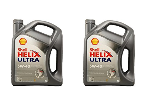 Shell Helix Ultra 5W40 - 100% synthetic oil for gasoline and diesel engines, 2 drums of 4 l = 8 liters