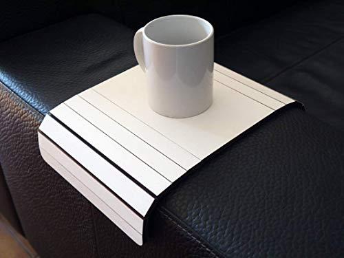 Holz sofa armlehnentisch in vielen farben wie weiß Armlehnentablett Moderner tisch für couch Klein schleichendes sofatisch Armlehne flexibel tablett Falten couchtisch Kleine tische für das wohnzimmer
