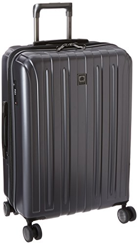 DELSEY Paris Titanium Hardside Expandable Luggage with Spinner Wheels, Graphite, Checked-Medium 25 Inch