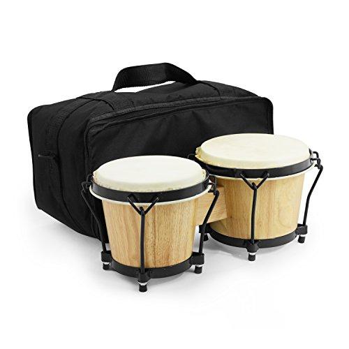 World Rhythm BON7 Bongos 6 Inch & 7 Inch Beginners Oak Bongo Drums -...