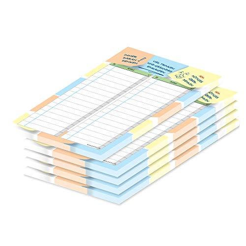 Lista de la compra PRICARO 'Notas', coloreada, A6, 5 piezas.