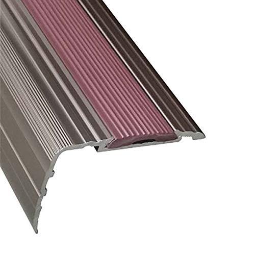KDOAE Nariz Antideslizante de Escalera Perfiles de Borde de Paso de ángulo 43x25mm 90 cm / 120cm de Longitud de Aluminio de Longitud Anti resbalón sin Deslizamiento Adecuado para Escaleras