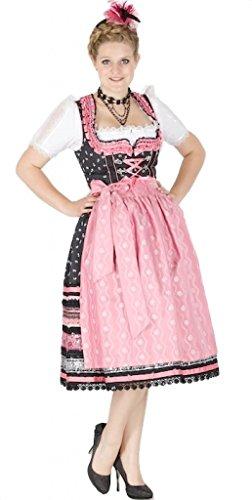 Krüger 10914 Manufaktur 70er Dirndl schwarz pink Size 36