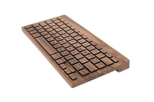 Oree Board Essentials Holz-Tastatur, Bluetooth und USB, handgefertigt in Frankreich (Walnuss, Mac)