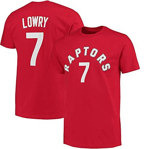 LGLE Maillot de baloncesto para hombre, 7 lowry, camisetas de baloncesto, transpirables, de secado rápido, manga corta casual para exteriores, C, XXL