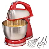 Appliances-Stand Mixer-Classic 4 Qt. Stand Mixer by Hamilton Beach-Color Red