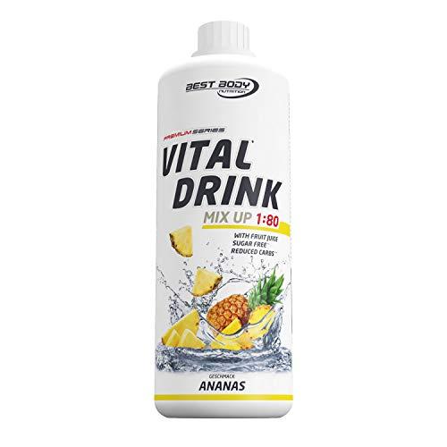 Best Body Nutrition Vital Drink Ananas, Getränkekonzentrat, 1000 ml Flasche