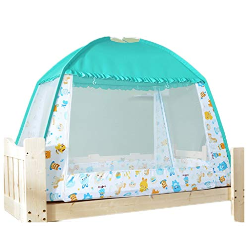 DUOER home-Tents Indoor and Outdoor Children's Tent Game House Yurt Folding Small Tent Marine Ball Indoor Outdoor Single Tent Blue Pop-up Tent (Color : Blue)