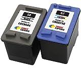 TONER EXPERTE Remplacement pour HP 56 57 2 Cartouches d'encre compatibles avec HP Officejet 5610...