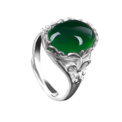 AIUIN ring zilver smaragd groene agaat ringen sieraden en accessoires