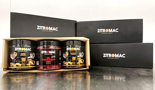 Home Pack Zitromac. Confezione 3 barattoli di frutta disidratata: limone + arancia + mix di frutta rossa liofilizzata. La confezione perfetta per i vostri abbinamenti e cocktail a casa! 100% frutta
