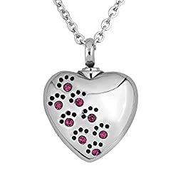 Pet memorial jewelry my first shiba inu luckyjewelry heart shaped pet memorial pendant and necklace aloadofball Images